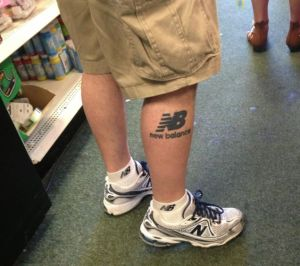 Senior sporting a New Balance Tattoo?!